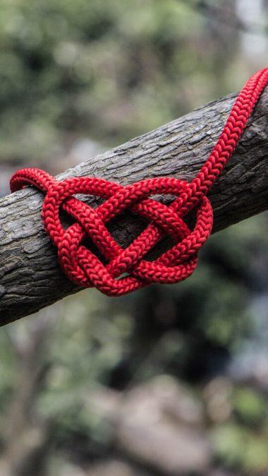 Heart Rope Spelled Tree Wallpaper 2160x3840 380x676