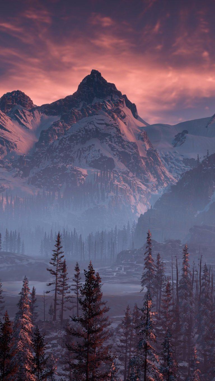 Horizon Zero Dawn Nature Mountains Trees Sky Yj Wallpaper 2160x3840 768x1365
