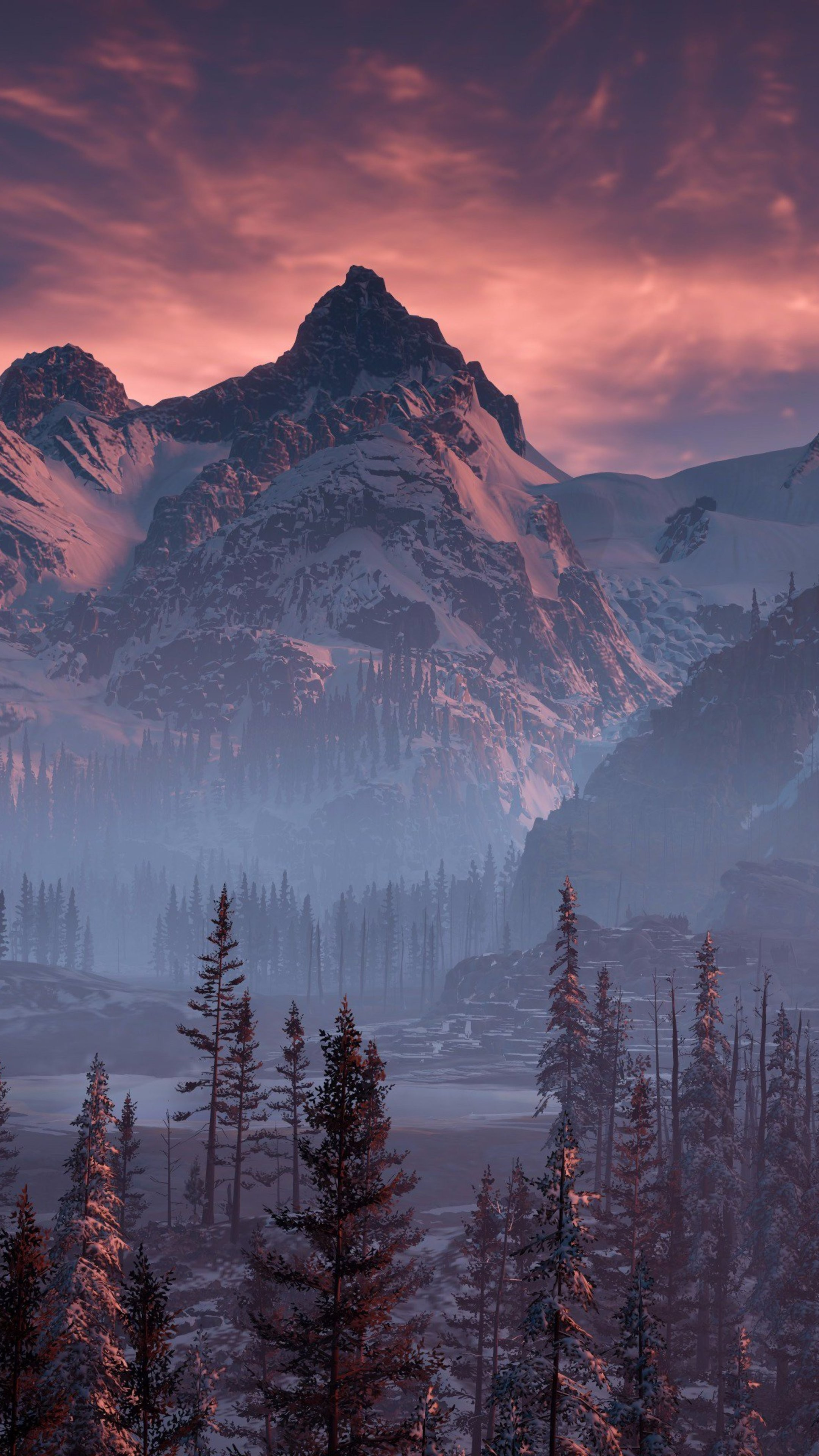 Horizon zero dawn nature mountains trees sky yj wallpaper - Horizon zero dawn android wallpaper ...