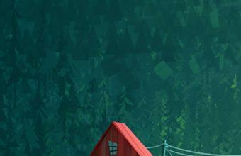House In Woods Minimalism Artwork Kk Wallpaper 1080x1920 340x220