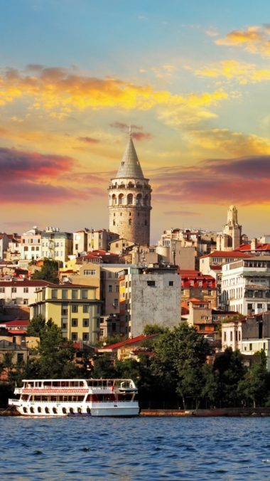 Istanbul Turkey Sea Buildings 380x676