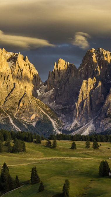 Italy Nature Mountains Dolomites 380x676