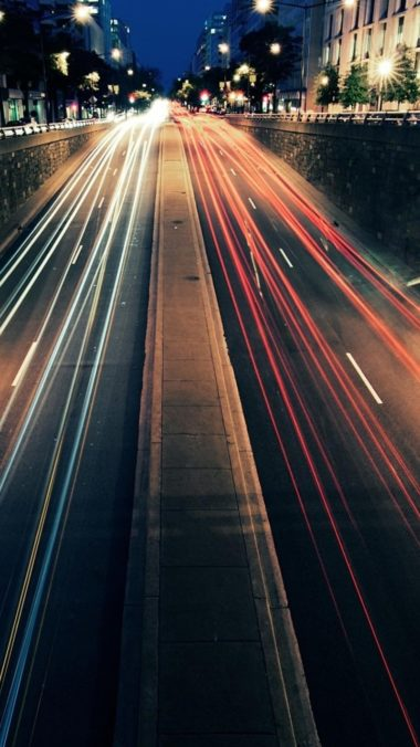 Light Trails Photography Wallpaper 720x1280 380x676