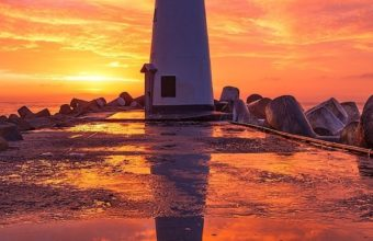 Lighthouse At Sunsrise Fi Wallpaper 1080x1920 340x220