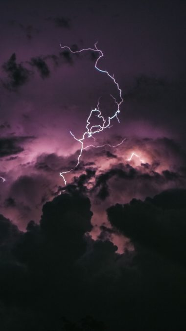 Lightning In Clouds Bj Wallpaper 2160x3840 380x676