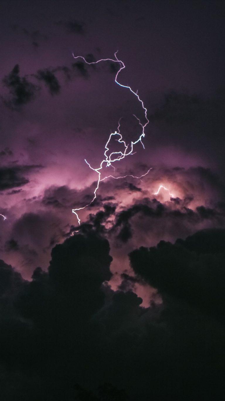 Lightning In Clouds Bj Wallpaper 2160x3840 768x1365