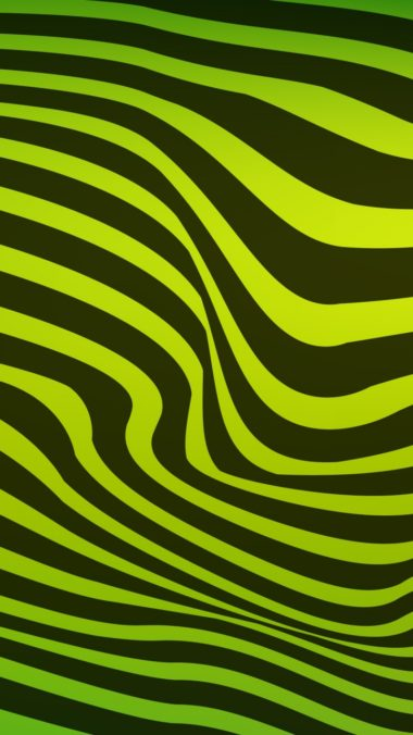 Lines Wavy Stripes Black Green Wallpaper 720x1280 380x676