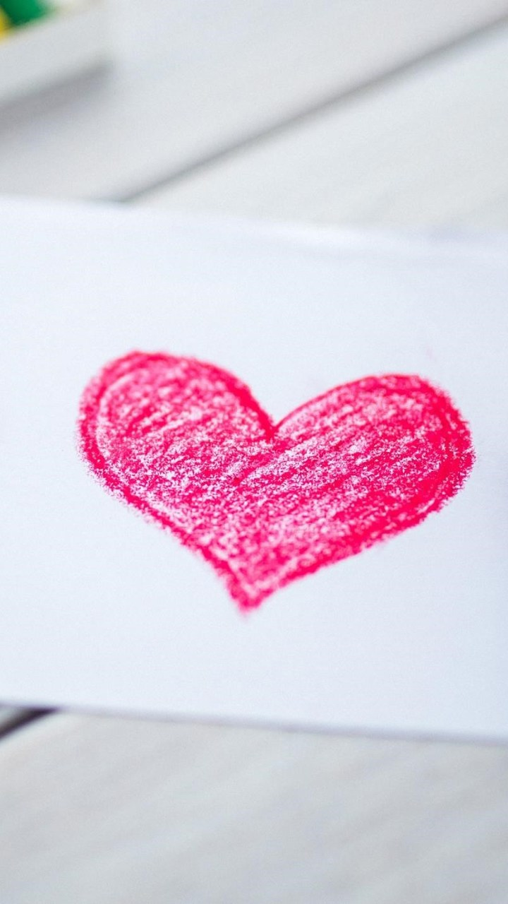 Love Heart Sketch Wallpaper 720x1280