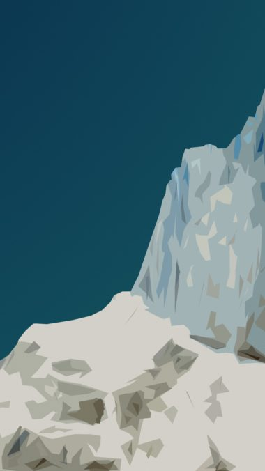 Material Mountain Wallpaper 1080x1920 380x676