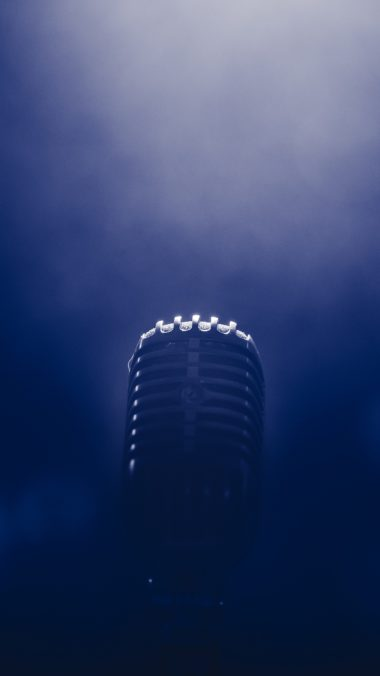 Microphone Smoke Blackout Wallpaper 2160x3840 380x676