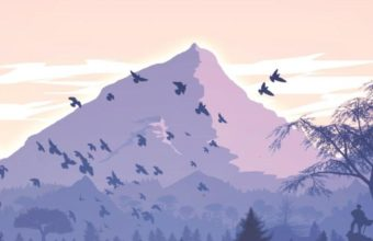 Minimalism Birds Mountains Trees Forest 9k Wallpaper 2160x3840 340x220