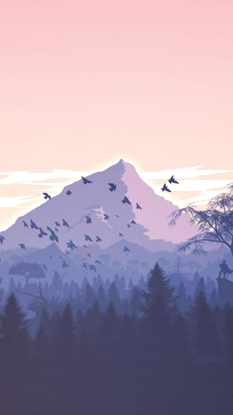 Minimalism Birds Mountains Trees Forest 9k Wallpaper 2160x3840 768x1365