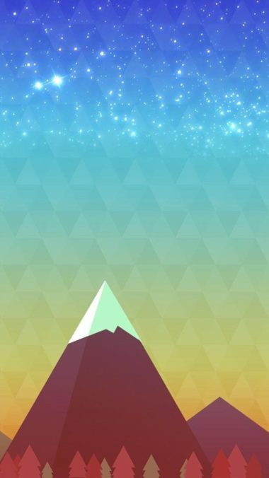 Minimalism Mountain Peak Wallpaper 1080x1920 380x676