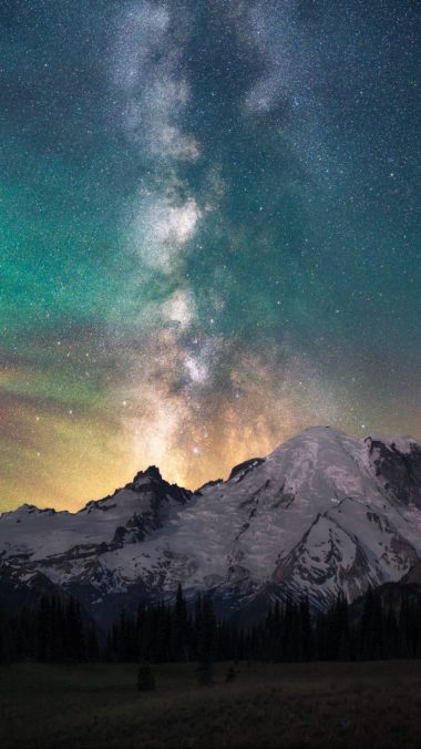 Montain Galaxy Wallpaper 1080x1920 380x676
