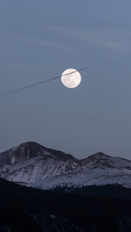 Moon Over Snowy Mountains Kf Wallpaper 2160x3840 768x1365