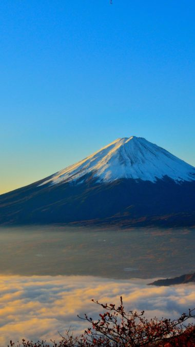 Mount Fuji Sunrise Zp Wallpaper 2160x3840 380x676
