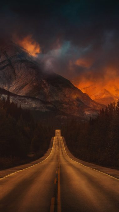 Mountain Nature Night Road T2 Wallpaper 1080x1920 380x676