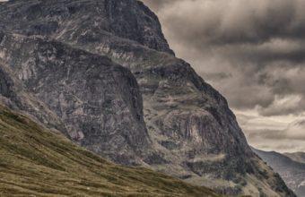 Mountains Clouds Cloudy Grass Wallpaper 720x1280 340x220