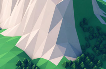 Mountains Trees Forest 3d Minimalism Ku Wallpaper 720x1280 340x220