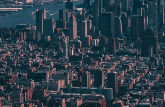 New York Usa Skyscrapers Sky Wallpaper 720x1280 340x220
