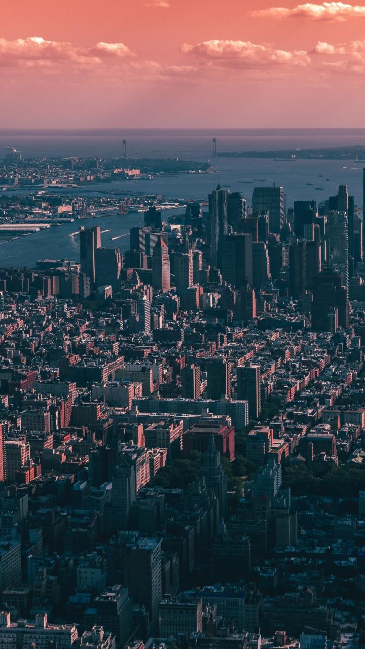 New York Usa Skyscrapers Sky Wallpaper 720x1280