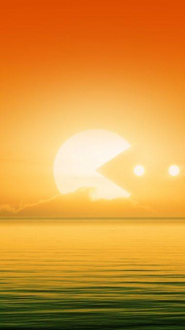 Pacman Sun E0 Wallpaper 1080x1920 380x676