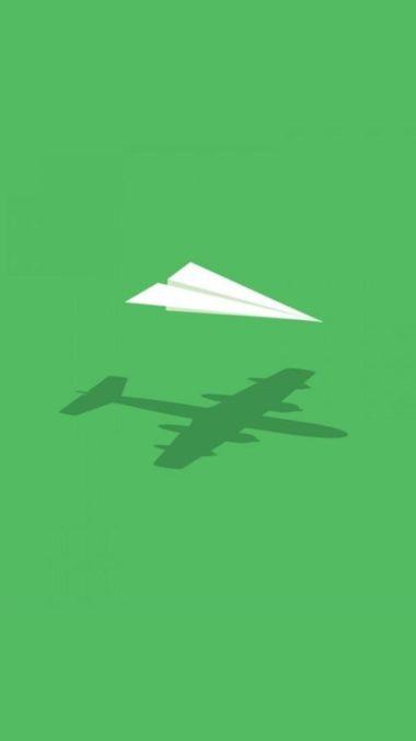 Paper Plane Minimalism Wide Wallpaper 1080x1920 380x676
