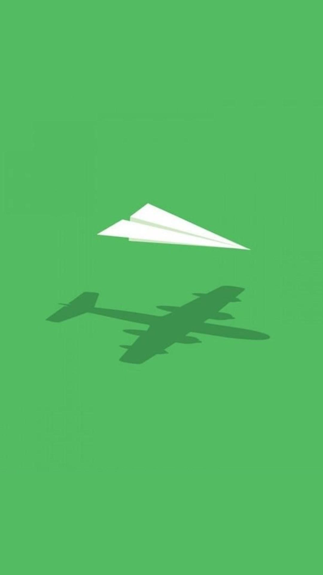 Paper Plane Minimalism Wide Wallpaper 1080x1920