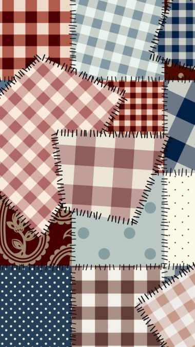 Patchwork Vector Wallpaper 1080x1920 380x676