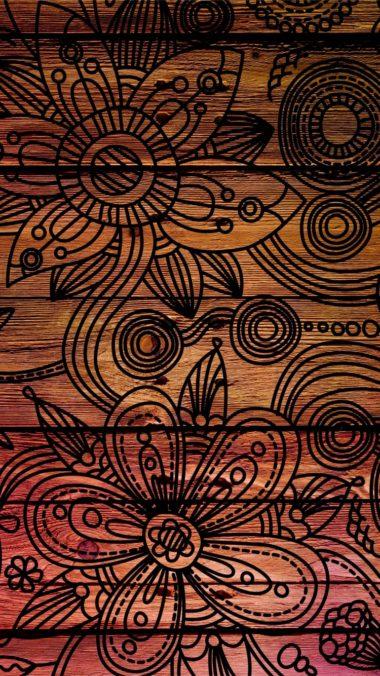 Patterns Background Dark Wooden Texture 380x676