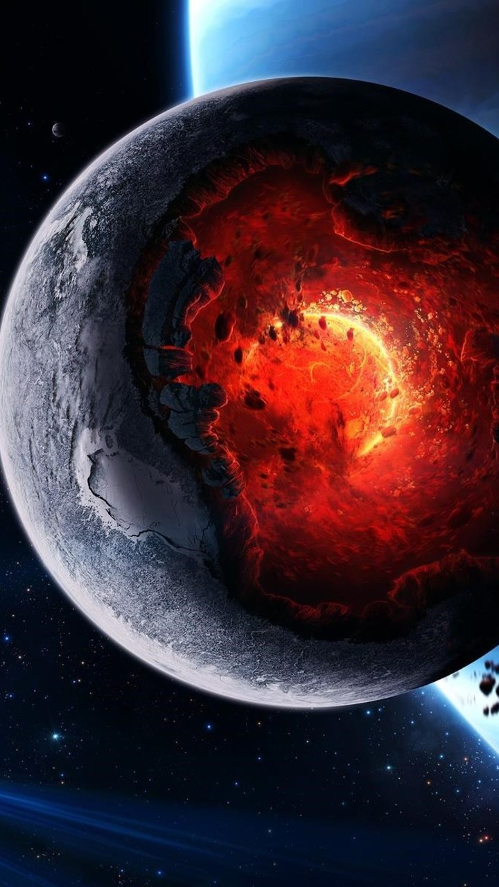 Planet Core Meltdown Wallpaper 720x1280