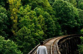 Railway Man Walk Trees Wallpaper 720x1280 340x220