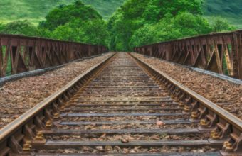 Railway Rails Mountains Hdr Wallpaper 2160x3840 340x220