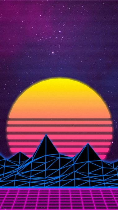 Retrowave Ap Wallpaper 1080x1920 380x676