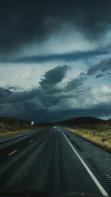 Road Clouds Auto Traffic Wallpaper 2160x3840 380x676