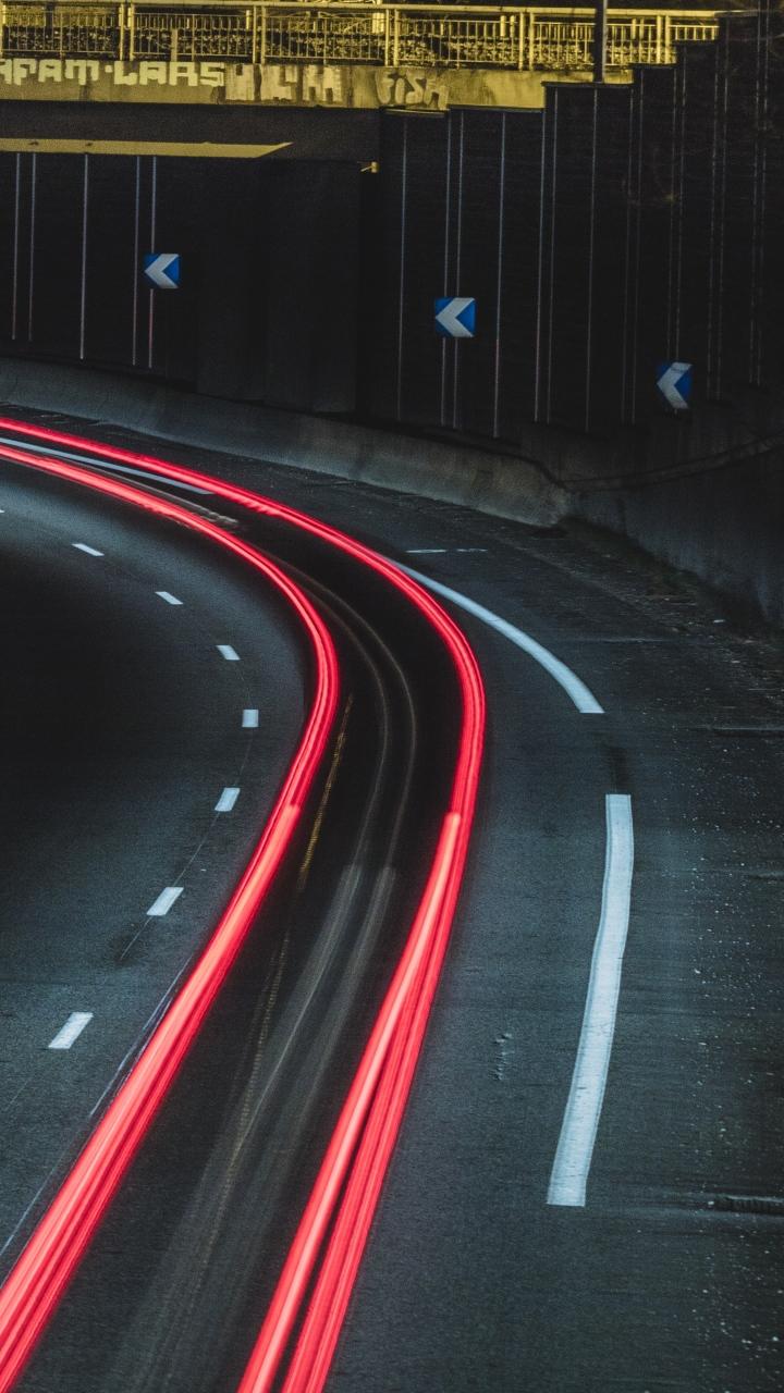 Road Marking Light Turn Wallpaper 720x1280