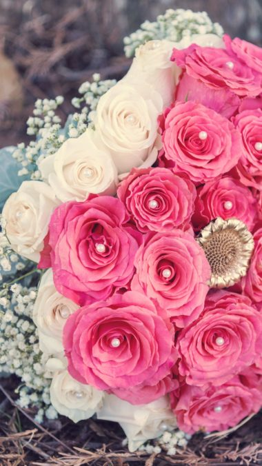 Roses Bouquet Composition Decoration Wallpaper 2160x3840 380x676