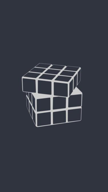 Rubiks Cube Minimalism U3 Wallpaper 720x1280 380x676