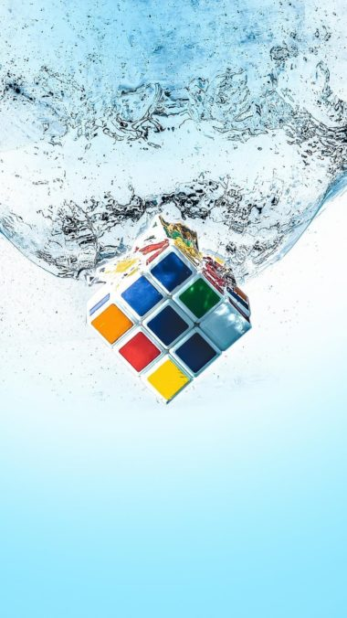 Rubiks Cube Splash Qu Wallpaper 1080x1920 380x676