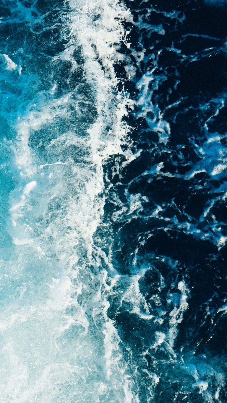 Sea Foam Surf Wallpaper 2160x3840 768x1365