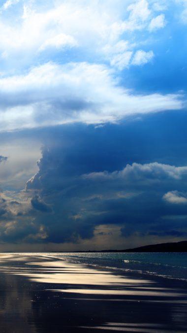 Sea Ocean Evening Beach Sand Sky Clouds 380x676