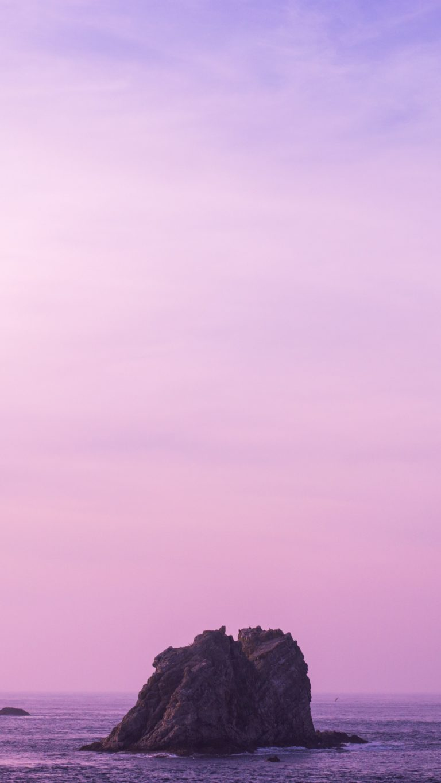 Sea Stone Sky Lilac Wallpaper 2160x3840 768x1365