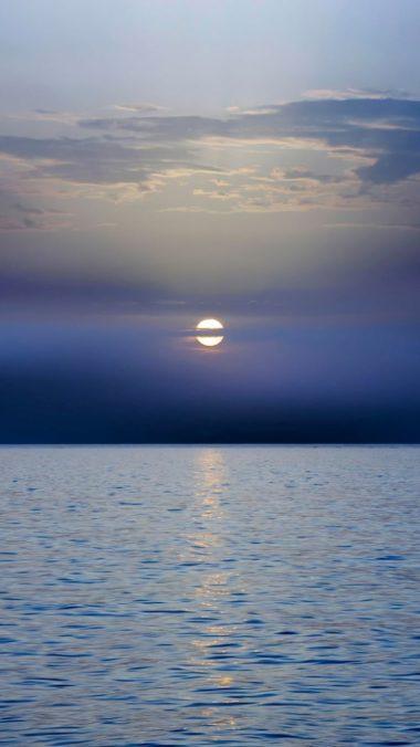 Sea Sunset Horizon Dark 380x676