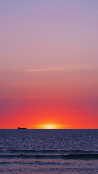 Sea Sunset Horizon Wallpaper 720x1280 380x676