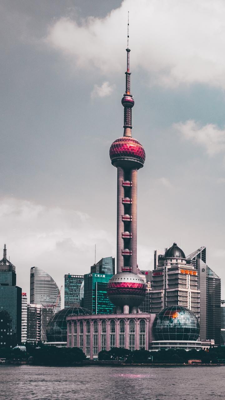 Shanghai China Skyscrapers Wallpaper 720x1280