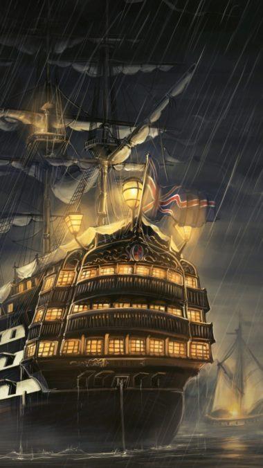 Ships Sea Light Rain 380x676