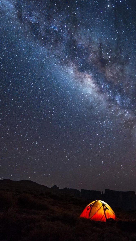 Sky Galaxy Camp Wallpaper 2160x3840 768x1365