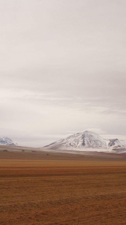 Snow On A Mountain Behind The Desert Zi Wallpaper 2160x3840 768x1365