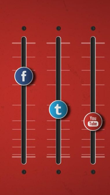 Social Networks Equalizer On Wallpaper 1080x1920 380x676