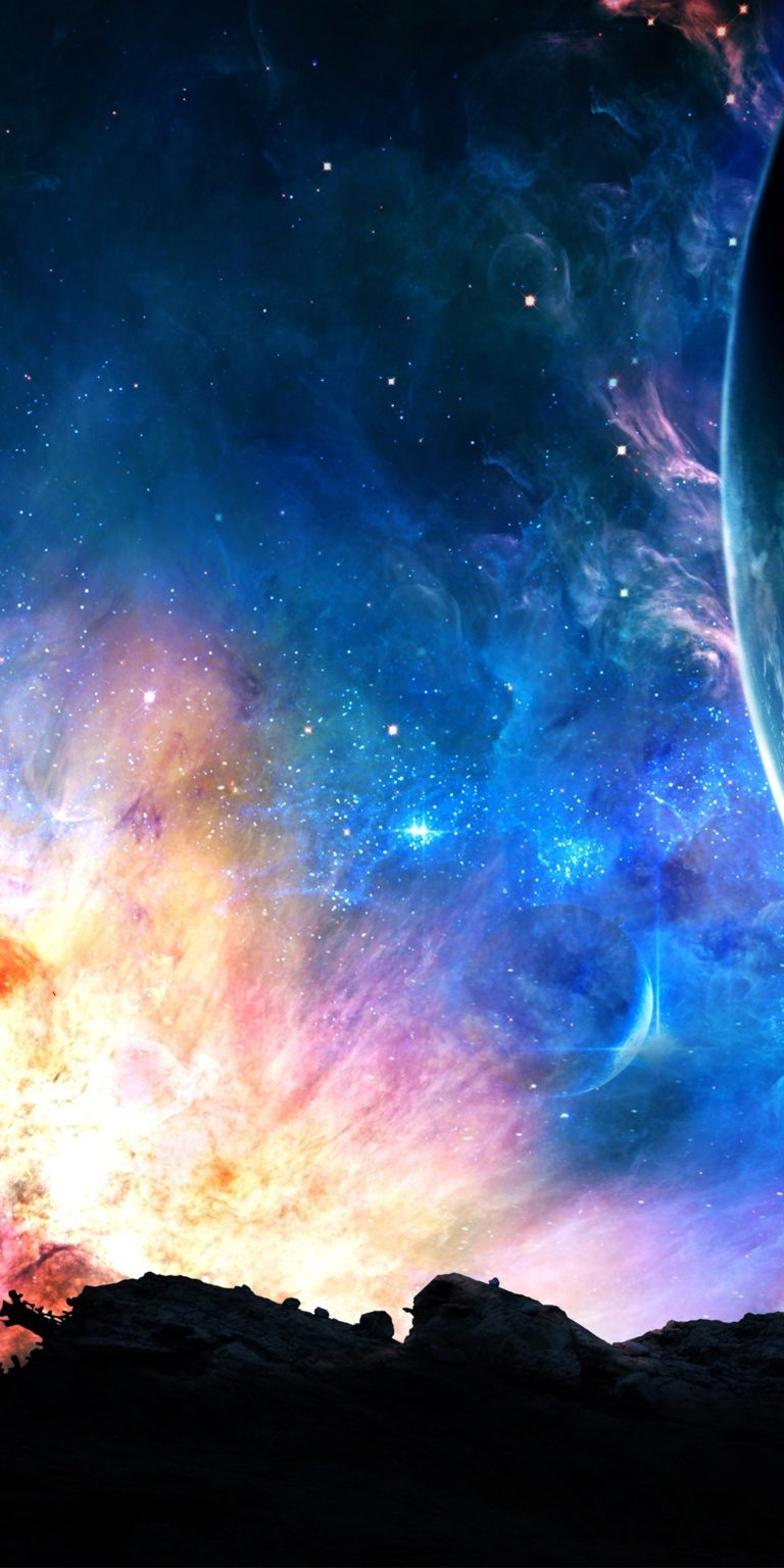 Space Fantasy Ultra HD Wallpaper 1080x2160 768x1536